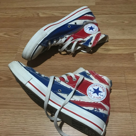 a7a21799cb19 Converse Shoes - Union Jack   British Flag High Top Converse